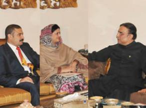 Mahreen Razaque Bhutto with Zardari