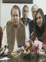 Marvi Memon with Nawaz Sharif