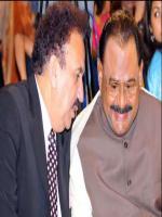 A. Rehman Malik  With Altaf Hussain