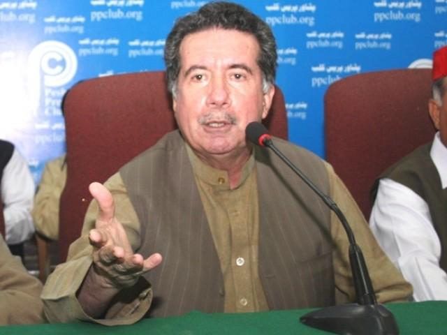 Afrasiab Khattak in Meeting