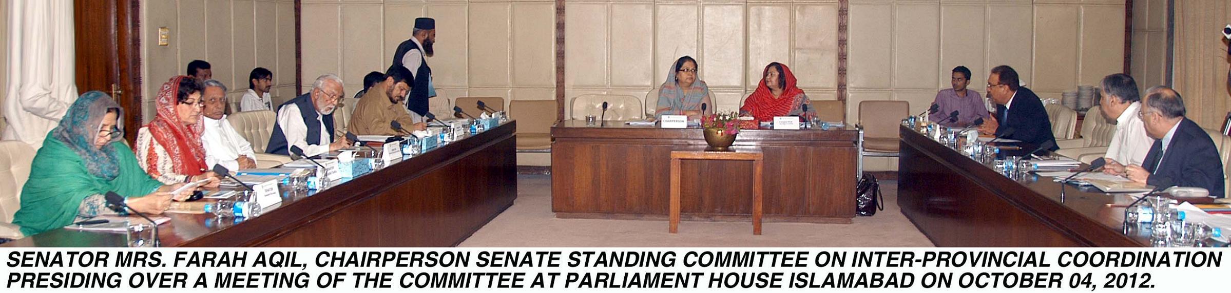 Farah Aqil in Senate Meeting