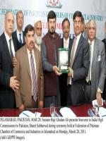 Haji Ghulam Ali Presents Souvenir to Indian High commissioner