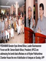 Ilyas Ahmad Bilour Address to Bussinesmen