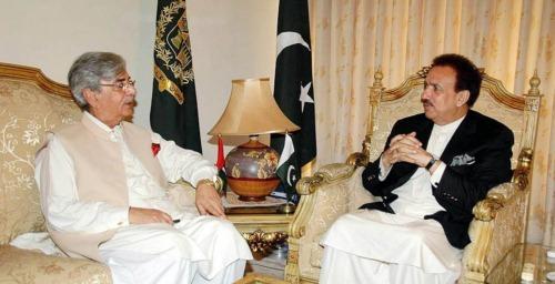 Ilyas Ahmad Bilour with Rehman Malik