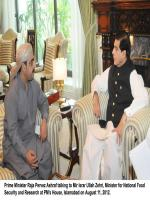 Mir Israrullah Khan Zehri With Former PM