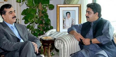 Mir Israrullah Khan Zehri with Yousof Raza Gillani
