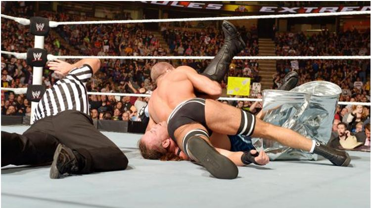 Antonio Cesaro defeated Jack Swagger and Rob Van Dam in a triple threa