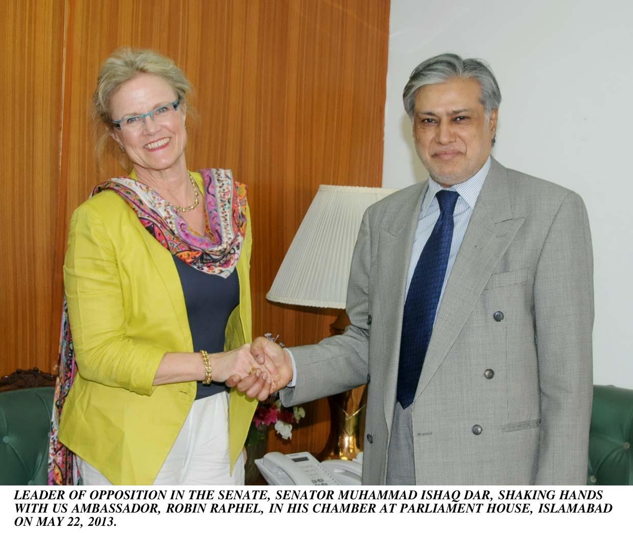 Mohammad Ishaq Dar With Ambassador