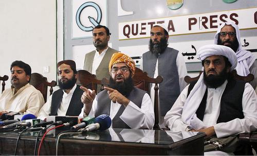 Molana Abdul Ghafoor Haideri in Queeta Press Club