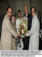 Muhammad Kazim Khan Reciving Gift