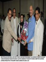 Muhammad Talha Mehmood with Mushahid Hussain