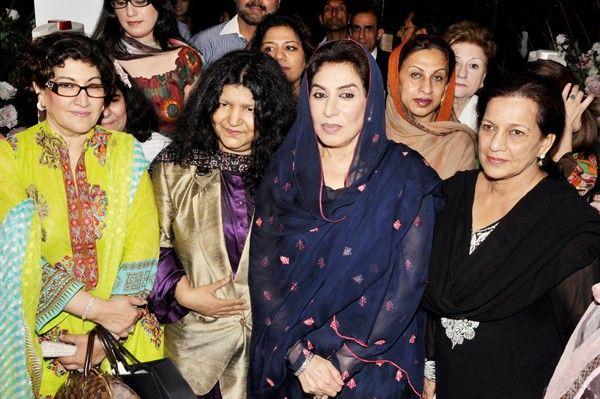 Nuzhat Sadiq with Abida Perveen