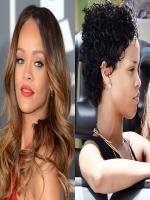 Rihanna Before and after makup