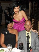 Rihanna with her parents
