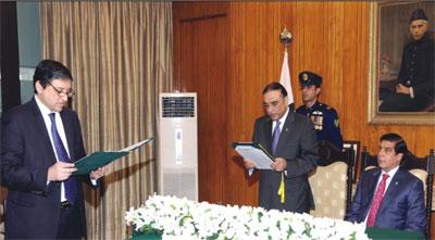 Saleem Mandviwalla Taking Oath