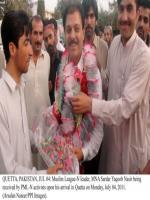 Sardar Muhammad Yaqoob Khan Nasir Former MNA