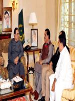 Shahi Syed Meets with Zardari