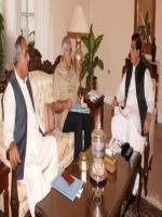 Syed Muzafar Hussain Shah With raja Pervaiz Ashraf
