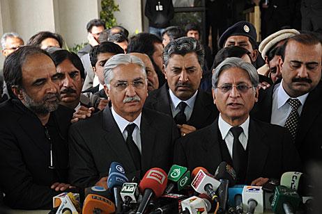 Syed Nayyer Hussain Bokhari Talks to Media