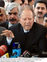 Sharifuddin Pirzada Talks to Media