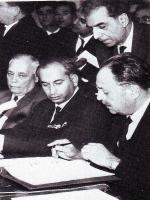 Aziz Ahmed with Bhuto