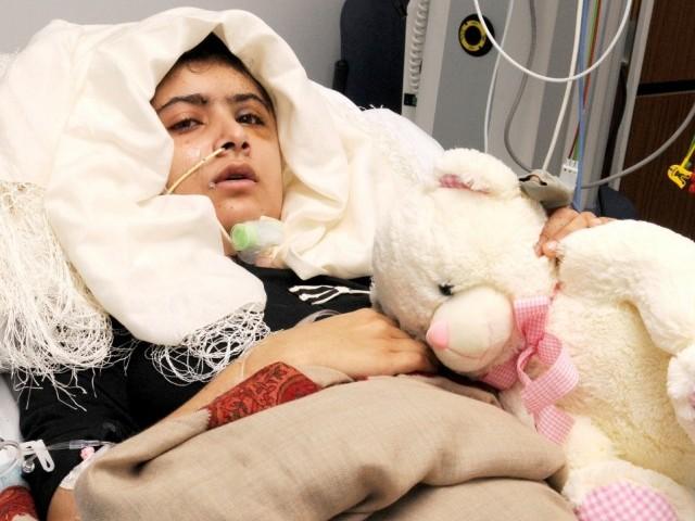 Malala Yousafzai at Hospital
