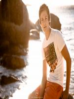 Caspar Lee at Beach