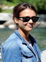 Jessica Alba with glasses
