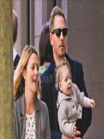 Drew Barrymore with husband and son