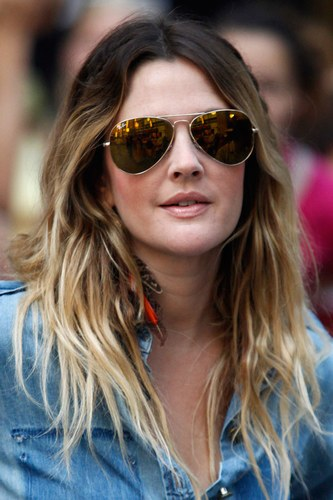 Drew Barrymore with glasses