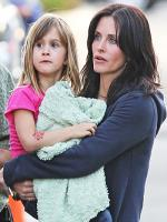 Courteney Cox with Kid