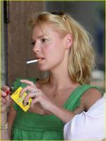 Katherine Heigl while smoking