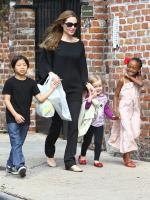 angelina jolie with Childern