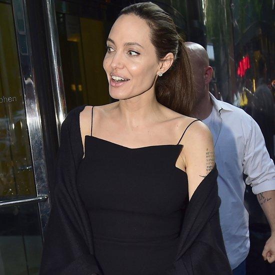 Angelina Jolie In Black Dress