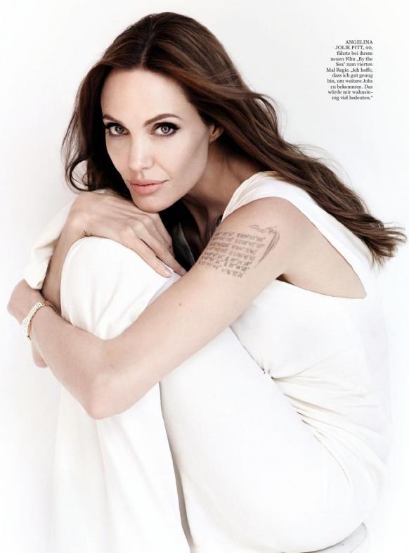 Angelina Jolie In White Dress
