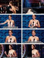 Awesome Jennifer Lawrence.. Oscar