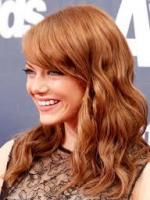 Emma Stone with brown hair