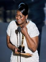 Octavia Spencer Emotional while receiving an award