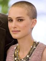 Natalie Portman with shaved head