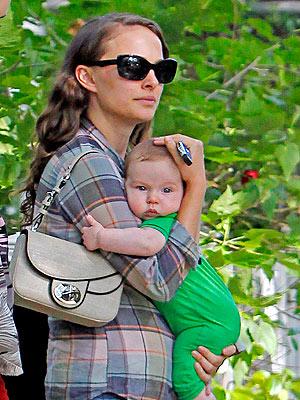 Natalie Portman with baby