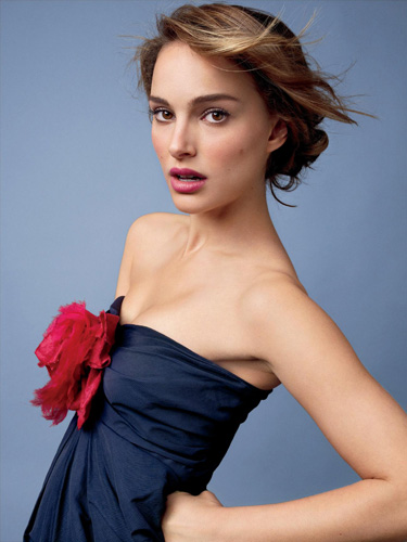 Natalie Portman n blue dress