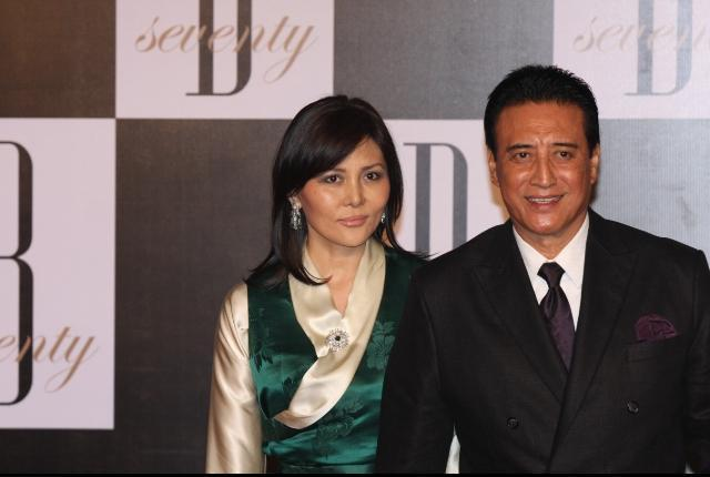 Danny Denzongpa With His Wife