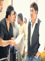 Deepak Tijori with Sunny Deol