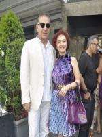 Dalip Tahil With his Wife