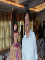 Jai Jagadish With his Wife
