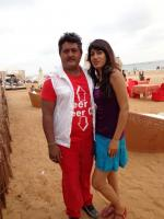 Komal Kumar with reshma