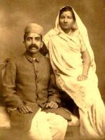 Seth Govind Das With his Wife