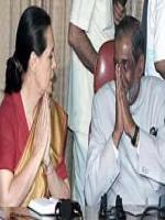 P. M. Sayeed With Sonia Ghandi
