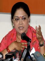 Vasundhara Raje Answer to Media