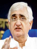 Salman Khurshid Talks to Media